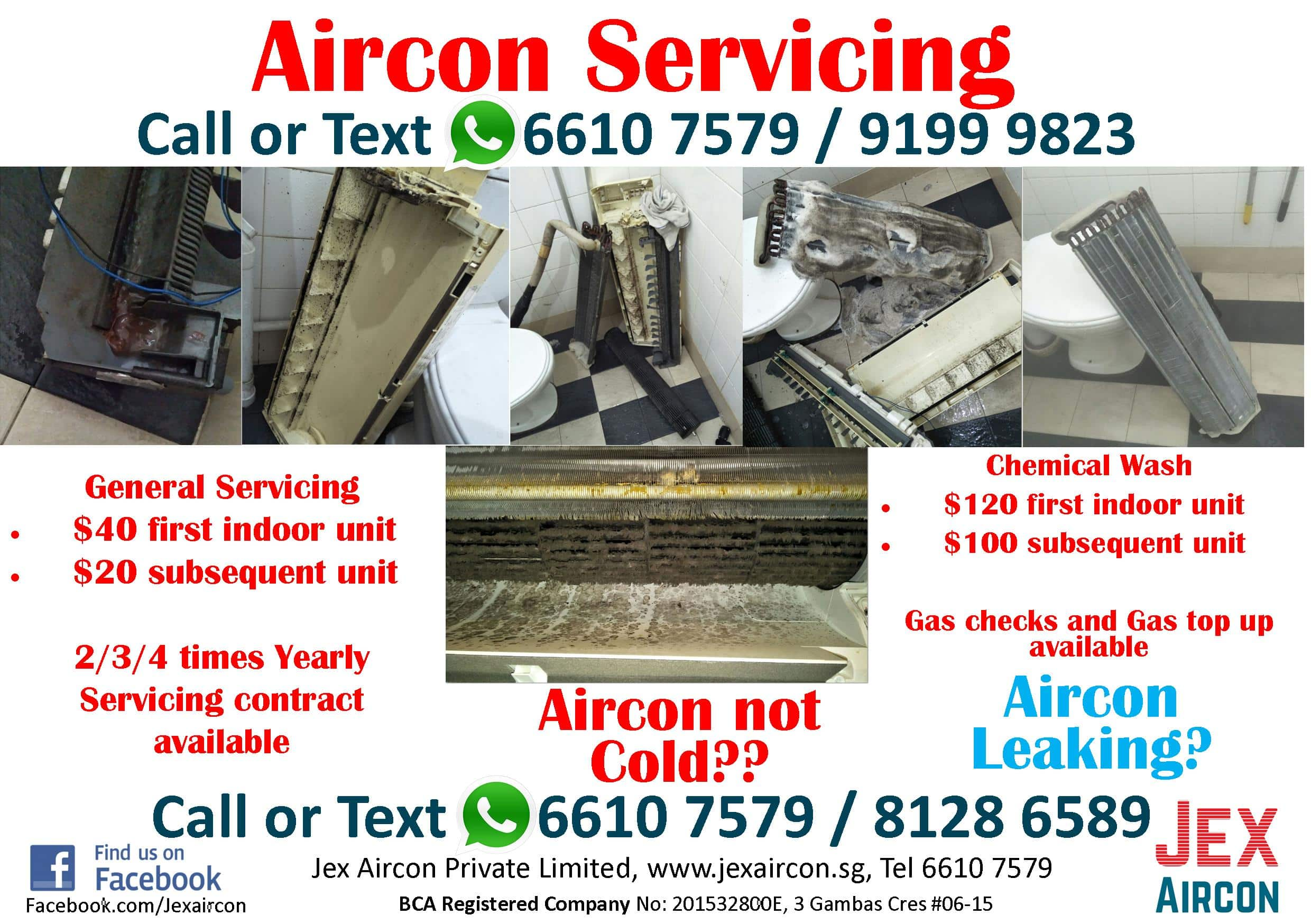 Aircon servicing and chemical wash Singapore