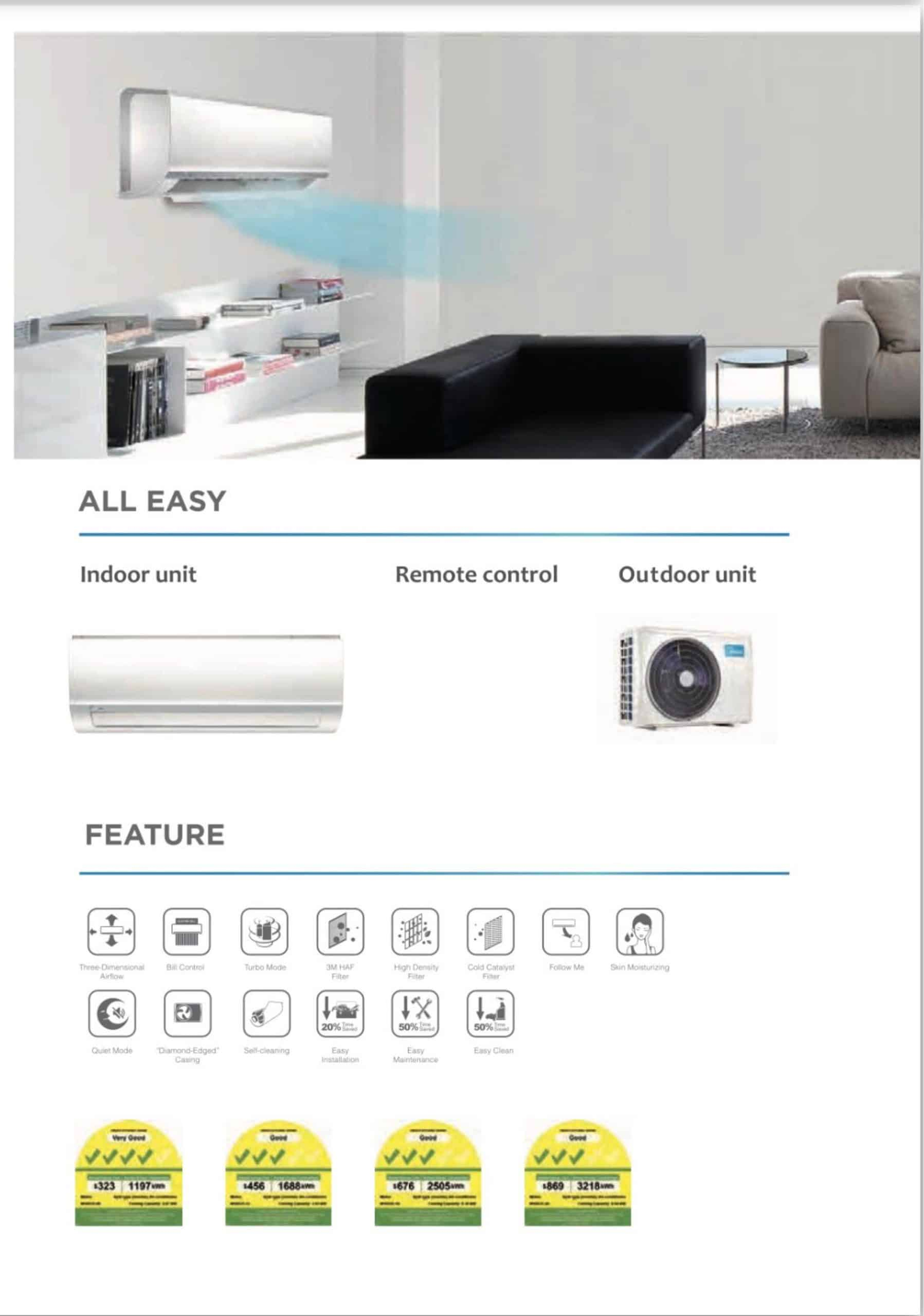midea system 1 single split