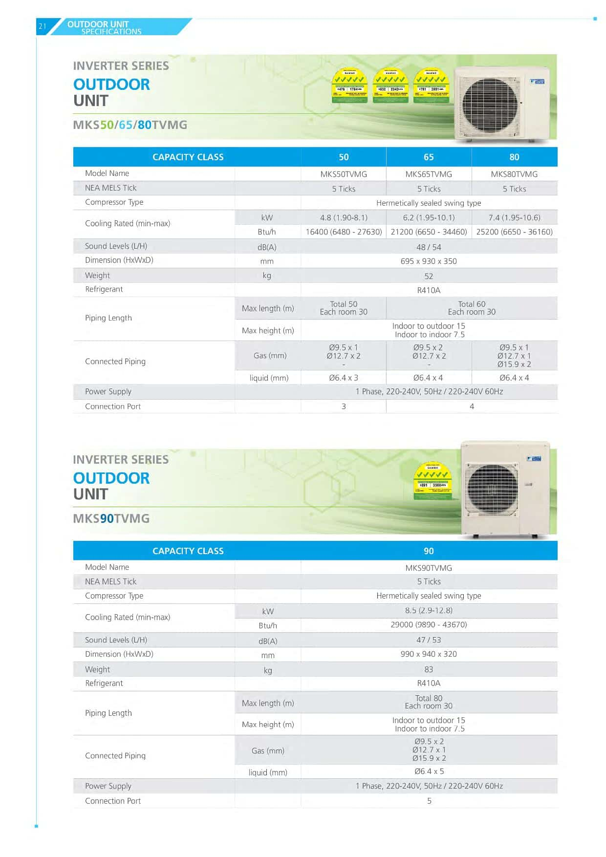 daikin ismiles catalogue
